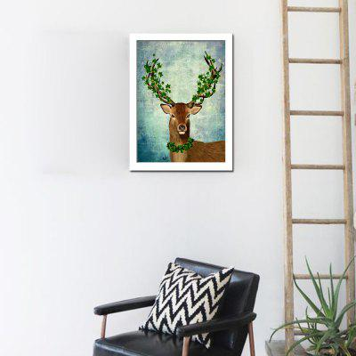 Wapiti Wall Decor Print for Home DecorationPrints<br>Wapiti Wall Decor Print for Home Decoration<br><br>Craft: Print<br>Form: One Panel<br>Material: Canvas<br>Package Contents: 1 x Print<br>Package size (L x W x H): 32.00 x 4.00 x 4.00 cm / 12.6 x 1.57 x 1.57 inches<br>Package weight: 0.1000 kg<br>Painting: Without Inner Frame<br>Product size (L x W x H): 30.00 x 40.00 x 0.10 cm / 11.81 x 15.75 x 0.04 inches<br>Product weight: 0.0400 kg<br>Shape: Horizontal<br>Style: Modern<br>Subjects: Animal<br>Suitable Space: Bedroom,Dining Room,Hotel,Living Room