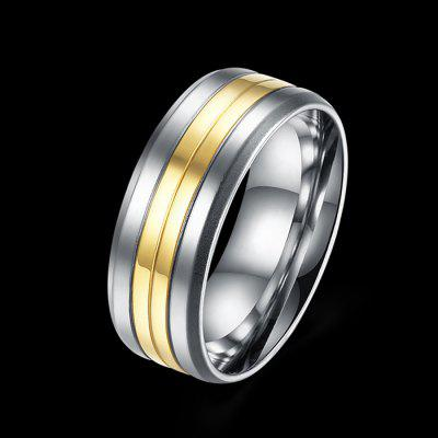 Male Stitching Stripe Design RingRings<br>Male Stitching Stripe Design Ring<br><br>Fabric: Others<br>Package Contents: 1 x Ring<br>Package size (L x W x H): 7.00 x 7.00 x 3.00 cm / 2.76 x 2.76 x 1.18 inches<br>Package weight: 0.0480 kg<br>Product weight: 0.0080 kg<br>Style: Fashion<br>Type: Rings