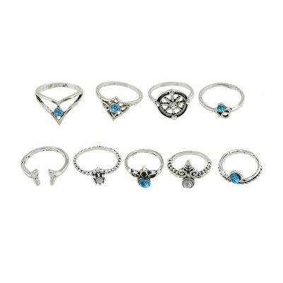 Women Stylish Alloy Ring SetRings<br>Women Stylish Alloy Ring Set<br><br>Fabric: Alloy<br>Occasions: Others, Party<br>Package Contents: 1 x Ring Set, 1 x Box<br>Package size (L x W x H): 4.10 x 4.10 x 2.70 cm / 1.61 x 1.61 x 1.06 inches<br>Package weight: 0.0550 kg<br>Product weight: 0.0150 kg<br>Style: Fashion<br>Type: Rings