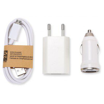 SZKINSTON 3-in-1 Power Adapter Car Charger Micro USB Data Sync Charging Cable