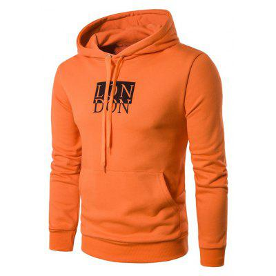 Stylish Casual Letter Printed Pullover Hoodie for Men