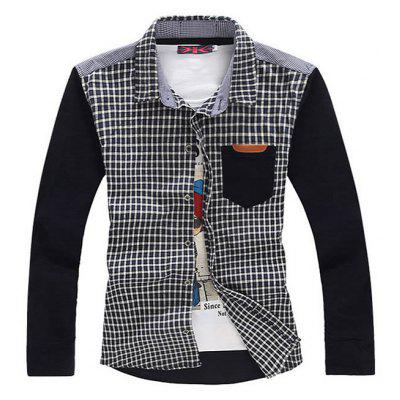 Casual Long Sleeve Corduroy Male Shirt