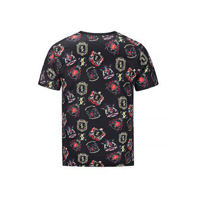 Stylish Round Collar Short Sleeve 3D Printed T-shirtMens Short Sleeve Tees<br>Stylish Round Collar Short Sleeve 3D Printed T-shirt<br><br>Fabric Type: Polyester<br>Material: Polyester<br>Neckline: Round Neck<br>Package Content: 1 x Men T-shirt<br>Package size: 30.00 x 35.00 x 2.00 cm / 11.81 x 13.78 x 0.79 inches<br>Package weight: 0.2500 kg<br>Product weight: 0.2100 kg<br>Season: Summer<br>Sleeve Length: Short Sleeves