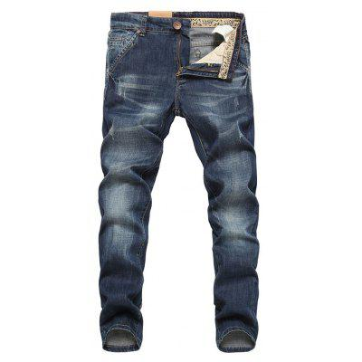 Men Fashionable Comfortable Simple Cotton Jeans