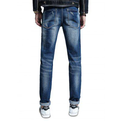 Men Fashionable Simple Skin Friendly Cotton JeansMens Pants<br>Men Fashionable Simple Skin Friendly Cotton Jeans<br><br>Material: Cotton, Spandex<br>Package Contents: 1 x Pair of Jeans<br>Package size: 30.00 x 35.00 x 2.00 cm / 11.81 x 13.78 x 0.79 inches<br>Package weight: 0.5500 kg<br>Product weight: 0.5000 kg