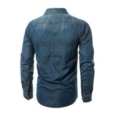 Male Slim Fit Turn-down Collar Denim JacketMens Jackets &amp; Coats<br>Male Slim Fit Turn-down Collar Denim Jacket<br><br>Closure Type: Single Breasted<br>Clothes Type: Jackets<br>Collar: Turn-down Collar<br>Embellishment: Others<br>Materials: Cotton, Polyester<br>Package Content: 1 x Jacket<br>Package Dimension: 40.00 x 30.00 x 4.00 cm / 15.75 x 11.81 x 1.57 inches<br>Package weight: 0.6400 kg<br>Pattern Type: Others<br>Product weight: 0.6000 kg<br>Seasons: Autumn,Spring<br>Shirt Length: Regular<br>Sleeve Length: Long Sleeves<br>Style: Fashion<br>Thickness: Thin