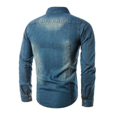 Casual Long Sleeve Male Denim JacketMens Jackets &amp; Coats<br>Casual Long Sleeve Male Denim Jacket<br><br>Closure Type: Single Breasted<br>Clothes Type: Jackets<br>Collar: Turn-down Collar<br>Embellishment: Others<br>Materials: Cotton, Polyester<br>Package Content: 1 x Jacket<br>Package Dimension: 40.00 x 30.00 x 4.00 cm / 15.75 x 11.81 x 1.57 inches<br>Package weight: 0.6600 kg<br>Pattern Type: Others<br>Product weight: 0.6000 kg<br>Seasons: Autumn<br>Shirt Length: Regular<br>Sleeve Length: Long Sleeves<br>Style: Casual, Fashion<br>Thickness: Thin<br>Type: Slim