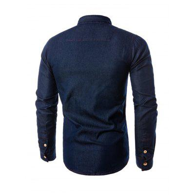 Slim Fit Turn-down Collar Denim Jacket for MenMens Jackets &amp; Coats<br>Slim Fit Turn-down Collar Denim Jacket for Men<br><br>Closure Type: Single Breasted<br>Clothes Type: Jackets<br>Collar: Turn-down Collar<br>Embellishment: Others<br>Materials: Cotton, Polyester<br>Package Content: 1 x Jacket<br>Package Dimension: 40.00 x 30.00 x 4.00 cm / 15.75 x 11.81 x 1.57 inches<br>Package weight: 0.6400 kg<br>Pattern Type: Others<br>Product weight: 0.6000 kg<br>Seasons: Autumn,Spring<br>Shirt Length: Regular<br>Sleeve Length: Long Sleeves<br>Style: Fashion<br>Thickness: Thin