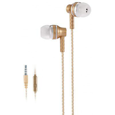 ZZ - 007 Translucent Wired In-ear Metal Powerful Bass Earphones with Mic