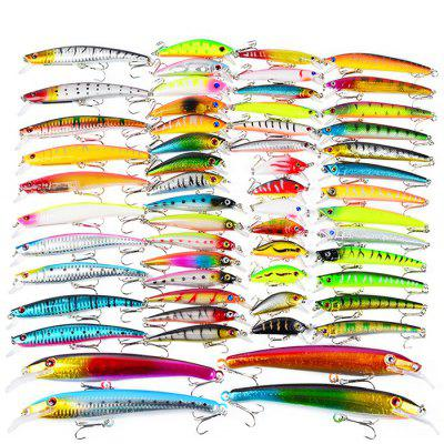 Proberos DWMI010 57-piece Set ABS Plastic Fishing Lures
