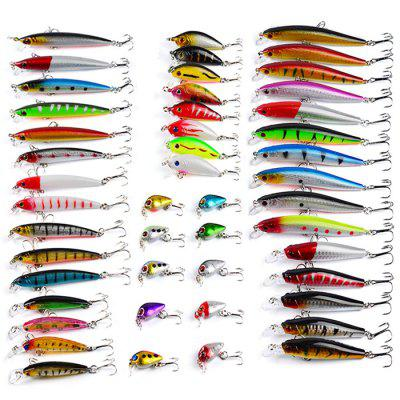 Proberos DWS480 48-piece Set ABS Plastic Fishing LuresFishing Baits and Hooks<br>Proberos DWS480 48-piece Set ABS Plastic Fishing Lures<br><br>Brand: Proberos<br>Material: ABS Plastic<br>Package Contents: 48 x Fishing Lures<br>Package size (L x W x H): 19.50 x 10.00 x 13.00 cm / 7.68 x 3.94 x 5.12 inches<br>Package weight: 0.3300 kg<br>Product weight: 0.2400 kg<br>Style: Fish<br>Type: Hard Bait