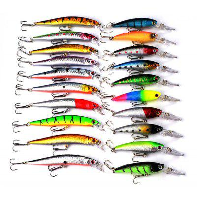 Proberos DWS251 20-piece Set ABS Plastic Fishing Lures