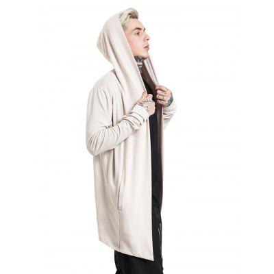 Male Hooded Long Sleeves Cloak Matching CardiganMens Sweaters &amp; Cardigans<br>Male Hooded Long Sleeves Cloak Matching Cardigan<br><br>Material: Cotton, Polyester, Spandex<br>Package Contents: 1 x Cardigan<br>Package size: 35.00 x 25.00 x 2.00 cm / 13.78 x 9.84 x 0.79 inches<br>Package weight: 0.6600 kg<br>Product weight: 0.6000 kg
