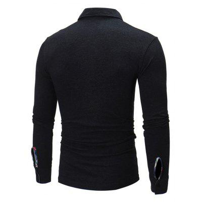 Male Checked Lapel Long Sleeves Polo ShirtMens Long Sleeves Tees<br>Male Checked Lapel Long Sleeves Polo Shirt<br><br>Material: Cotton, Polyester<br>Neckline: Turn-down Collar<br>Package Content: 1 x Shirt<br>Package size: 40.00 x 30.00 x 4.00 cm / 15.75 x 11.81 x 1.57 inches<br>Package weight: 0.4500 kg<br>Product weight: 0.4000 kg<br>Season: Autumn<br>Sleeve Length: Long Sleeves