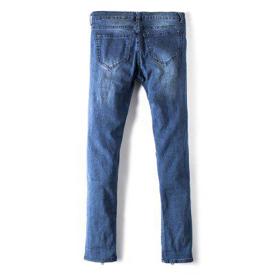 Male Individual Zipped Frayed JeansMens Pants<br>Male Individual Zipped Frayed Jeans<br><br>Package Contents: 1 x Pair of Jeans<br>Package size: 30.00 x 35.00 x 2.00 cm / 11.81 x 13.78 x 0.79 inches<br>Package weight: 0.5000 kg<br>Product weight: 0.4500 kg