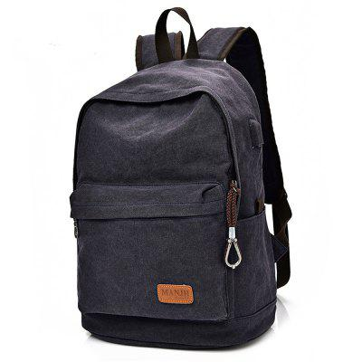 Canvas 20L Leisure Backpack 14 inch Laptop Bag with USB PortDuffel Bags<br>Canvas 20L Leisure Backpack 14 inch Laptop Bag with USB Port<br><br>Bag Capacity: 20L<br>Capacity: 11 - 20L<br>For: Casual, Cycling, Traveling, Work<br>Gender: Unisex<br>Material: Canvas<br>Package Contents: 1 x Backpack<br>Package size (L x W x H): 31.00 x 5.00 x 43.00 cm / 12.2 x 1.97 x 16.93 inches<br>Package weight: 0.7500 kg<br>Product size (L x W x H): 30.00 x 14.00 x 42.00 cm / 11.81 x 5.51 x 16.54 inches<br>Product weight: 0.7000 kg<br>Strap Length: 42 - 84cm<br>Style: Leisure<br>Type: Backpack