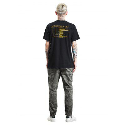 Male Trendy  Casual Letters Printed Cotton T-ShirtMens Short Sleeve Tees<br>Male Trendy  Casual Letters Printed Cotton T-Shirt<br><br>Material: Cotton<br>Neckline: Round Collar<br>Package Content: 1 x T-Shirt<br>Package size: 30.00 x 35.00 x 2.00 cm / 11.81 x 13.78 x 0.79 inches<br>Package weight: 0.2600 kg<br>Product weight: 0.2100 kg<br>Season: Summer<br>Sleeve Length: Short Sleeves