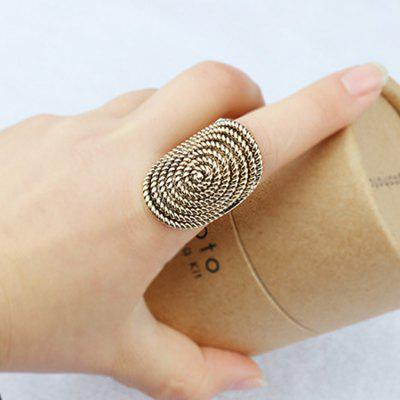 Vintage Spin Thread Finger RingRings<br>Vintage Spin Thread Finger Ring<br><br>Fabric: Alloy<br>Occasions: Others, Party, Performance, Personalized Photo<br>Package Contents: 1 x Ring<br>Package size (L x W x H): 5.00 x 5.00 x 3.00 cm / 1.97 x 1.97 x 1.18 inches<br>Package weight: 0.0480 kg<br>Product weight: 0.0080 kg<br>Style: Classical, Vintage, Fashion<br>Type: Rings