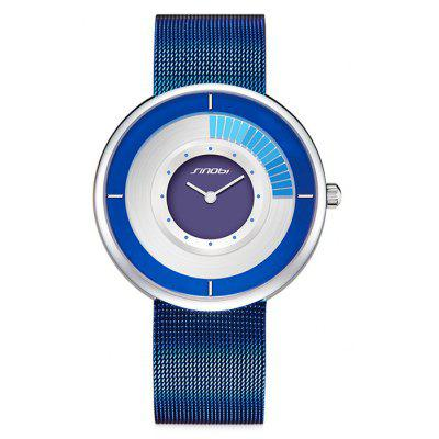 Buy BLUE SINOBI 9703 Stainless Steel Band Men Quartz Watch for $29.90 in GearBest store
