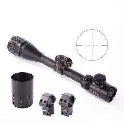 4 – 16X 44AOE Stretchable Integrated Tactical Optical ScopeGun Scopes and Sights<br>4 – 16X 44AOE Stretchable Integrated Tactical Optical Scope<br><br>Package Contents: 1 x Optical Scope, 1 x Light Suppression Pipe, 1 x Box<br>Package size (L x W x H): 44.00 x 10.00 x 10.00 cm / 17.32 x 3.94 x 3.94 inches<br>Package weight: 1.1150 kg<br>Power By: Lithium CR2032 3V Battery<br>Product size (L x W x H): 42.50 x 4.40 x 4.40 cm / 16.73 x 1.73 x 1.73 inches<br>Product weight: 0.7460 kg