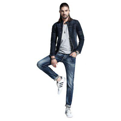 Men Trendy Simple Skin Friendly Cotton Jeans