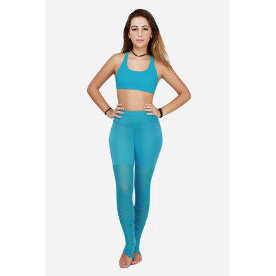 Feminino Elastic Slim Splicing Grenadine Pants for Yoga Energy Sports