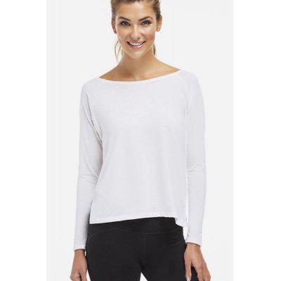 Feminino Backless Multi-way Long Sleeve T-shirt para Yoga Energy Sports