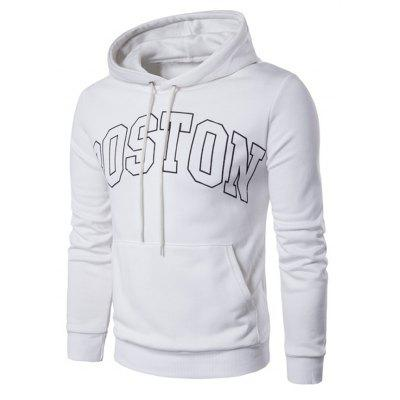 Fashion Casual Letter Printed Pullover Hoodie for Men