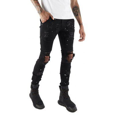Stylish Straight Slim Fit Biker Jeans