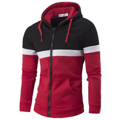 Casual Sport Contrast Color Male Hoodie