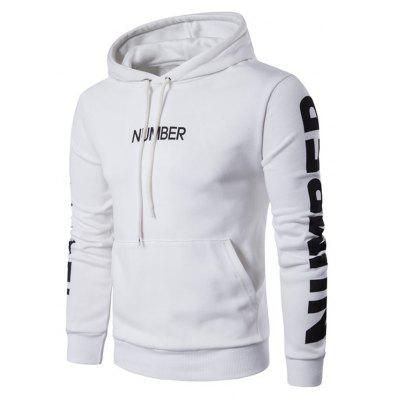 Classic Casual Letter Printed Pullover Hoodie for Men