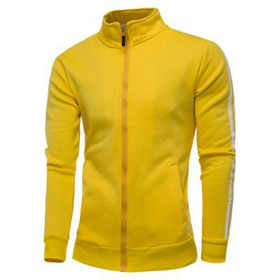 Casual Stand Collar Male Hoodie