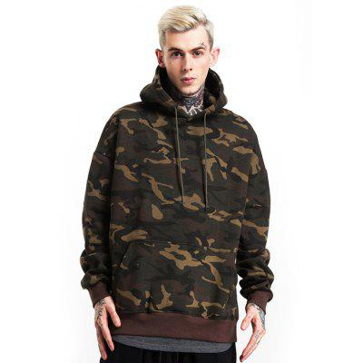 Male Stylish Casual Soft Camouflage Hooded Sweatshirt