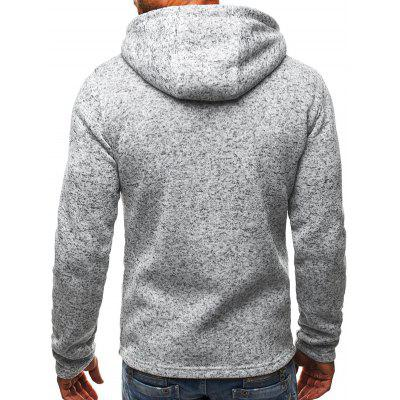 Купить со скидкой Casual Long Sleeve Winter Thick Hooded Sweatshirt
