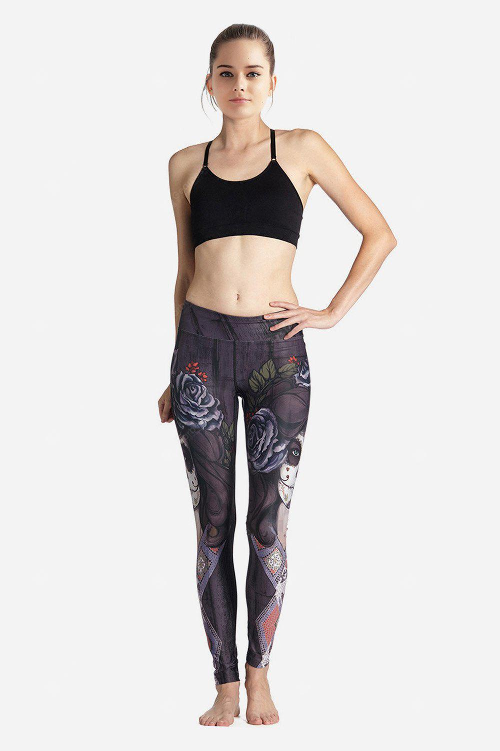 Feminino Elastic Slim Printed Pants for Yoga Energy Sports
