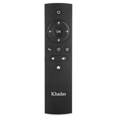 Khadas Remote Control 12 Buttons for VIM2 TV BoxAir Mouse<br>Khadas Remote Control 12 Buttons for VIM2 TV Box<br><br>Battery Capacity (mAh): Without<br>Brand: Khadas<br>Charging Time: Without<br>Connection Type: Infrared<br>Interface: No<br>Material             : ABS<br>Package size: 17.00 x 5.00 x 3.00 cm / 6.69 x 1.97 x 1.18 inches<br>Package weight: 0.0590 kg<br>Packing List: 1 x Khadas Remote Control<br>Powered by: 2 x AAA Battery<br>Product Features: Remote Controller<br>Product size: 15.50 x 3.88 x 1.45 cm / 6.1 x 1.53 x 0.57 inches<br>Product weight: 0.0390 kg<br>Suitable for: Andriod TV Box