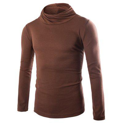 Men Simple Solid Color Long Sleeve Sweater