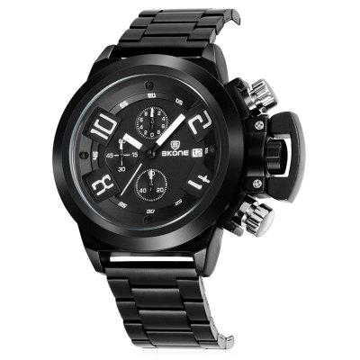 SKONE 7427E Stylish Steel Band Men Quartz WatchMens Watches<br>SKONE 7427E Stylish Steel Band Men Quartz Watch<br><br>Band material: Steel<br>Band size: 24.7 x 2cm<br>Brand: Skone<br>Case material: Alloy<br>Clasp type: Hook buckle<br>Dial size: 4.8 x 4.8 x 1.17cm<br>Display type: Analog<br>Movement type: Quartz watch<br>Package Contents: 1 x Watch, 1 x Box<br>Package size (L x W x H): 10.15 x 7.50 x 6.55 cm / 4 x 2.95 x 2.58 inches<br>Package weight: 0.2440 kg<br>Product size (L x W x H): 24.70 x 4.80 x 1.17 cm / 9.72 x 1.89 x 0.46 inches<br>Product weight: 0.1600 kg<br>Shape of the dial: Round<br>Watch mirror: Mineral glass<br>Watch style: Fashion<br>Watches categories: Men