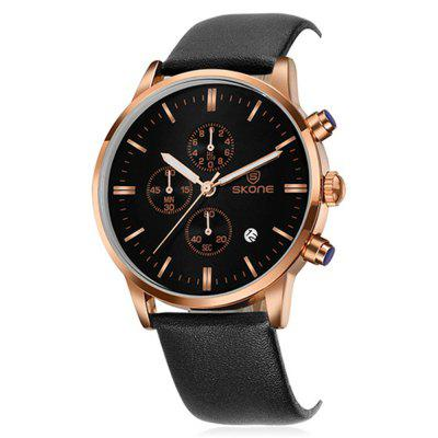 SKONE 9476E Stylish PU Band Men Quartz WatchMens Watches<br>SKONE 9476E Stylish PU Band Men Quartz Watch<br><br>Band material: PU, PU<br>Band size: 23.3 x 2cm, 23.3 x 2cm<br>Brand: Skone<br>Case material: Alloy, Alloy<br>Clasp type: Pin buckle, Pin buckle<br>Dial size: 4.3 x 4.3 x 0.86cm, 4.3 x 4.3 x 0.86cm<br>Display type: Analog, Analog<br>Movement type: Quartz watch<br>Package Contents: 1 x Watch, 1 x Box, 1 x Watch, 1 x Box<br>Package size (L x W x H): 10.15 x 7.50 x 6.55 cm / 4 x 2.95 x 2.58 inches, 10.15 x 7.50 x 6.55 cm / 4 x 2.95 x 2.58 inches<br>Package weight: 0.1410 kg, 0.1410 kg<br>Product size (L x W x H): 23.30 x 4.30 x 0.86 cm / 9.17 x 1.69 x 0.34 inches, 23.30 x 4.30 x 0.86 cm / 9.17 x 1.69 x 0.34 inches<br>Product weight: 0.0570 kg, 0.0570 kg<br>Shape of the dial: Round, Round<br>Watch mirror: Mineral glass<br>Watch style: Fashion<br>Watches categories: Men