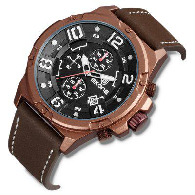 SKONE 9467E Exquisite PU Band Men Quartz WatchMens Watches<br>SKONE 9467E Exquisite PU Band Men Quartz Watch<br><br>Band material: PU<br>Band size: 24.8 x 2cm<br>Brand: Skone<br>Case material: Alloy<br>Clasp type: Pin buckle<br>Dial size: 4.8 x 4.8 x 1.15cm<br>Display type: Analog<br>Movement type: Quartz watch<br>Package Contents: 1 x Watch, 1 x Box<br>Package size (L x W x H): 10.15 x 7.50 x 6.55 cm / 4 x 2.95 x 2.58 inches<br>Package weight: 0.1740 kg<br>Product size (L x W x H): 24.80 x 4.80 x 1.15 cm / 9.76 x 1.89 x 0.45 inches<br>Product weight: 0.0900 kg<br>Shape of the dial: Round<br>Watch mirror: Mineral glass<br>Watch style: Fashion<br>Watches categories: Men