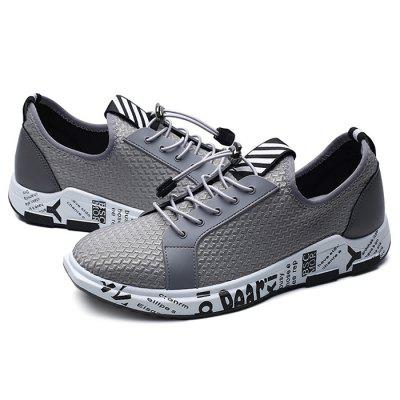 Male Stylish Breathable Casual Soft Sports ShoesAthletic Shoes<br>Male Stylish Breathable Casual Soft Sports Shoes<br><br>Closure Type: Lace-Up<br>Contents: 1 x Pair of Shoes<br>Decoration: Split Joint<br>Function: Slip Resistant<br>Lining Material: Mesh<br>Materials: Rubber, Mesh, Fabric<br>Occasion: Tea Party, Sports, Shopping, Party, Casual, Daily, Holiday, Outdoor Clothing<br>Outsole Material: Rubber<br>Package Size ( L x W x H ): 32.00 x 22.00 x 11.00 cm / 12.6 x 8.66 x 4.33 inches<br>Package Weights: 1.02kg<br>Pattern Type: Letter<br>Seasons: Autumn,Spring<br>Style: Modern, Leisure, Fashion, Comfortable, Casual<br>Toe Shape: Round Toe<br>Type: Sports Shoes<br>Upper Material: Cotton Fabric