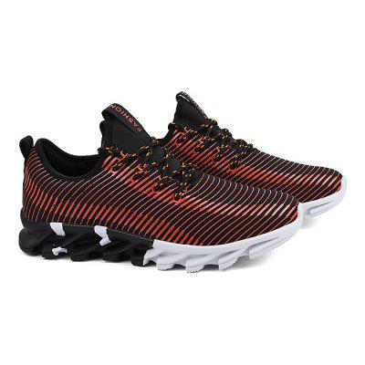 Male Breathable Athletic Blade Casual ShoesAthletic Shoes<br>Male Breathable Athletic Blade Casual Shoes<br><br>Closure Type: Lace-Up<br>Contents: 1 x Pair of Shoes<br>Decoration: Split Joint,Stripe<br>Function: Slip Resistant<br>Lining Material: Mesh<br>Materials: Rubber, Mesh, Fabric<br>Occasion: Sports, Shopping, Running, Party, Casual, Daily, Holiday, Outdoor Clothing<br>Outsole Material: Rubber<br>Package Size ( L x W x H ): 30.00 x 20.00 x 10.00 cm / 11.81 x 7.87 x 3.94 inches<br>Package Weights: 1.10kg<br>Pattern Type: Stripe<br>Seasons: Autumn,Spring<br>Style: Modern, Leisure, Fashion, Comfortable, Casual<br>Toe Shape: Round Toe<br>Type: Sports Shoes<br>Upper Material: Cotton Fabric