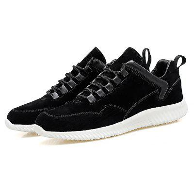 Buy BLACK Male Simple Soft Flat Anti Slip Leisure Casual Shoes for $35.73 in GearBest store