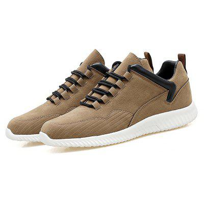 Buy KHAKI Male Simple Soft Flat Anti Slip Leisure Casual Shoes for $35.73 in GearBest store