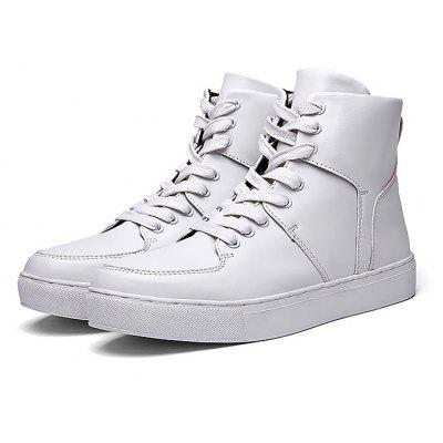 Buy WHITE Male Solid Color Anti Slip High Top Leisure Shoes for $42.42 in GearBest store