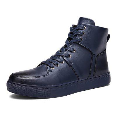 Male Solid Color Anti Slip High Top Leisure ShoesCasual Shoes<br>Male Solid Color Anti Slip High Top Leisure Shoes<br><br>Closure Type: Lace-Up<br>Contents: 1 x Pair of Shoes<br>Function: Slip Resistant<br>Materials: Rubber, PU<br>Occasion: Tea Party, Shopping, Party, Office, Rainy Day, Casual, Daily, Holiday<br>Outsole Material: Rubber<br>Package Size ( L x W x H ): 32.00 x 22.00 x 11.00 cm / 12.6 x 8.66 x 4.33 inches<br>Package Weights: 1.02kg<br>Pattern Type: Solid<br>Seasons: Autumn,Spring<br>Style: Modern, Leisure, Fashion, Comfortable, Casual, Business<br>Toe Shape: Round Toe<br>Type: Casual Leather Shoes<br>Upper Material: PU
