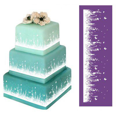 AK Wisteria Grass Pattern Wedding Cake Decor Tools