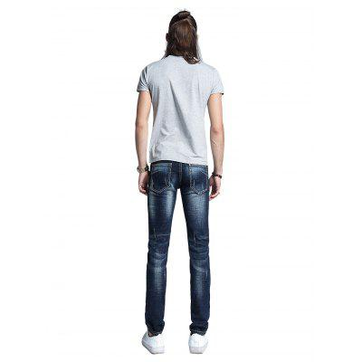 Men Classic Straight Slim Fit JeansMens Pants<br>Men Classic Straight Slim Fit Jeans<br><br>Material: Cotton, Spandex<br>Package Contents: 1 x Men Pants<br>Package size: 30.00 x 35.00 x 2.00 cm / 11.81 x 13.78 x 0.79 inches<br>Package weight: 0.5400 kg<br>Product weight: 0.5000 kg