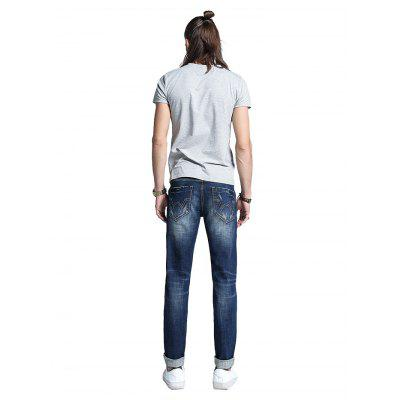 Men Classic Straight Regular Fit JeansMens Pants<br>Men Classic Straight Regular Fit Jeans<br><br>Material: Cotton, Spandex<br>Package Contents: 1 x Men Pants<br>Package size: 30.00 x 35.00 x 2.00 cm / 11.81 x 13.78 x 0.79 inches<br>Package weight: 0.5400 kg<br>Product weight: 0.5000 kg