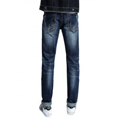 Men Casual Classic Straight Slim Fit JeansMens Pants<br>Men Casual Classic Straight Slim Fit Jeans<br><br>Material: Cotton, Spandex<br>Package Contents: 1 x Men Pants<br>Package size: 30.00 x 35.00 x 2.00 cm / 11.81 x 13.78 x 0.79 inches<br>Package weight: 0.5400 kg<br>Product weight: 0.5000 kg